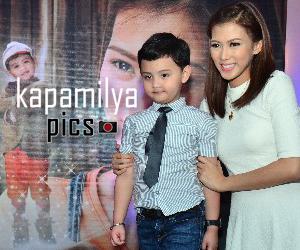 PHOTOS: Si Inday Bote Alex Gonzaga at ang cute na dwendeng si Entoy Alonzo Muhlach, humarap sa press